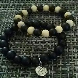 Set of Onyx Unisex Bracelets
